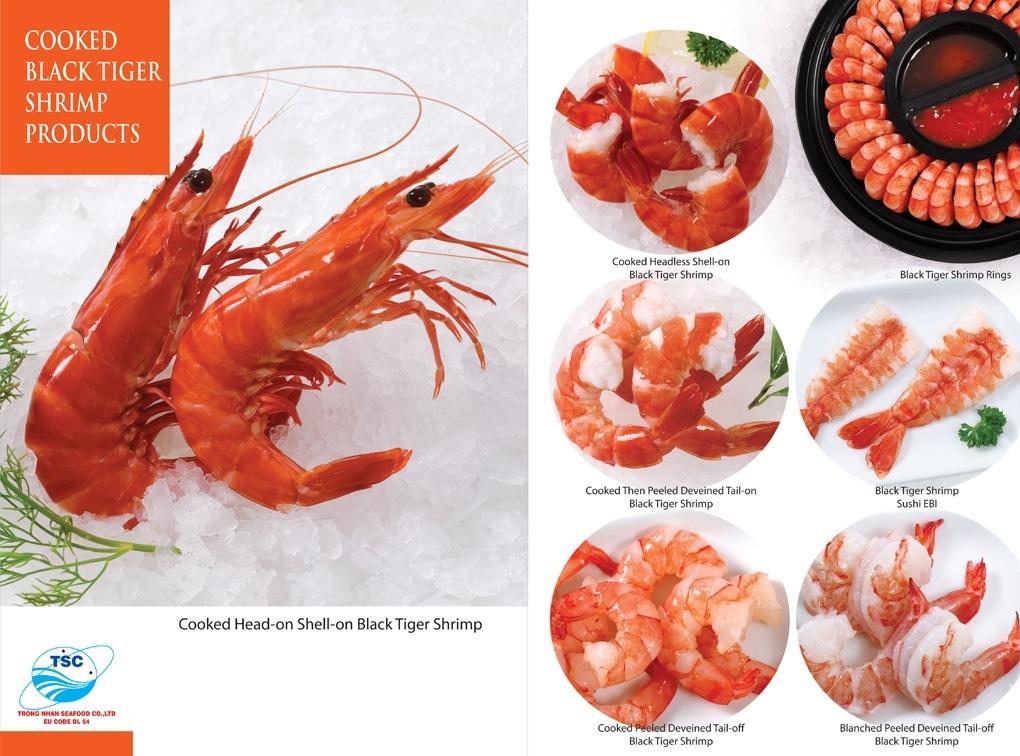 Cooked Black Tiger shrimp